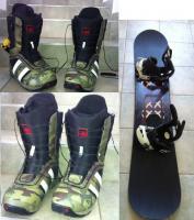 snowboard Palme, Burton topánky + viazanie
